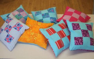 9 Patch Cushion tutorial