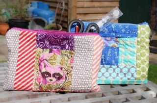 Quilt-As-You-Go Pencil Case by GillyMac Designs